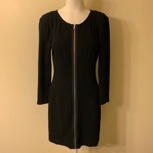Theory Sz 8 Susan Classical Black Zip Front Dress